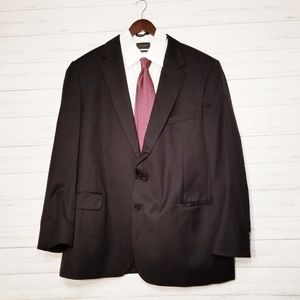 Jos. A Bank Black Wool Sport Coat Size 50LG
